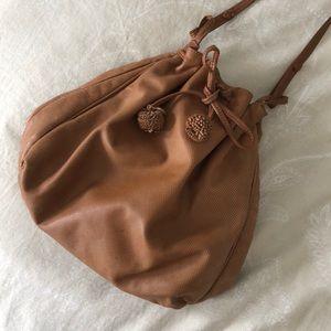 Vintage Bottega Veneta Brown Leather Bucket Bag